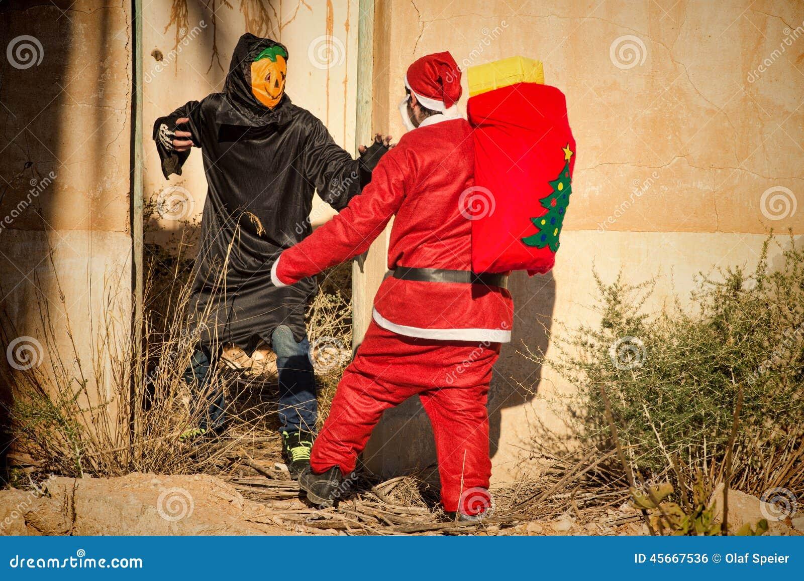 Santa dans le problème