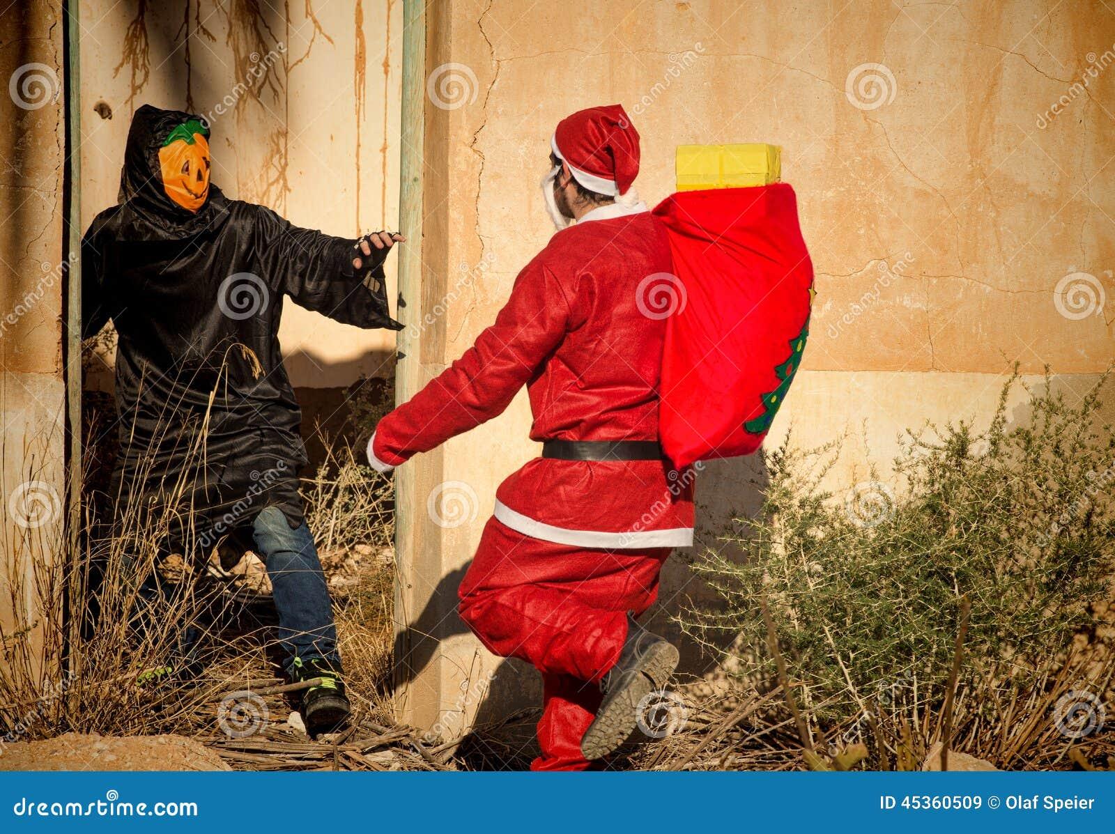 Santa dans les problèmes