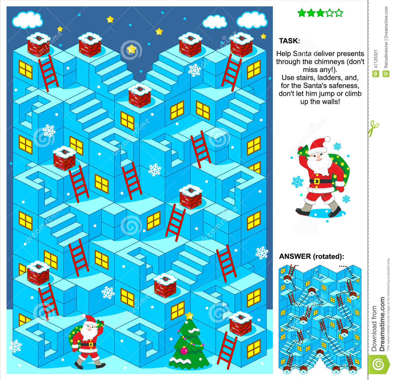 Santa Deliver Presents 3d Christmas Or New Year Maze Game ...