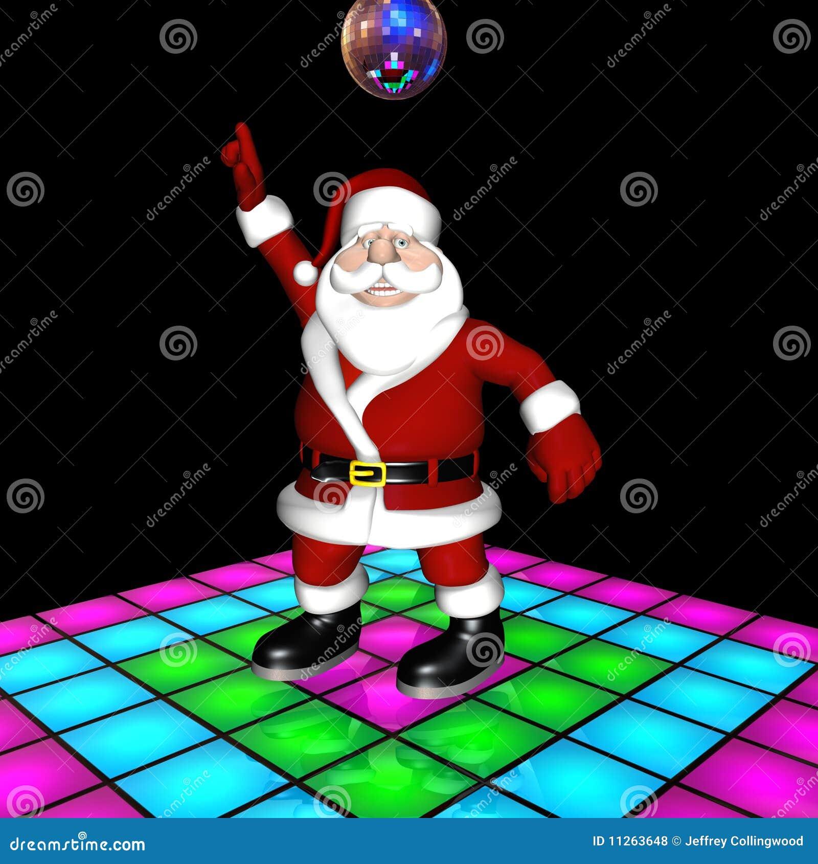 Santa Disco Dancing Stock Illustration Image Of