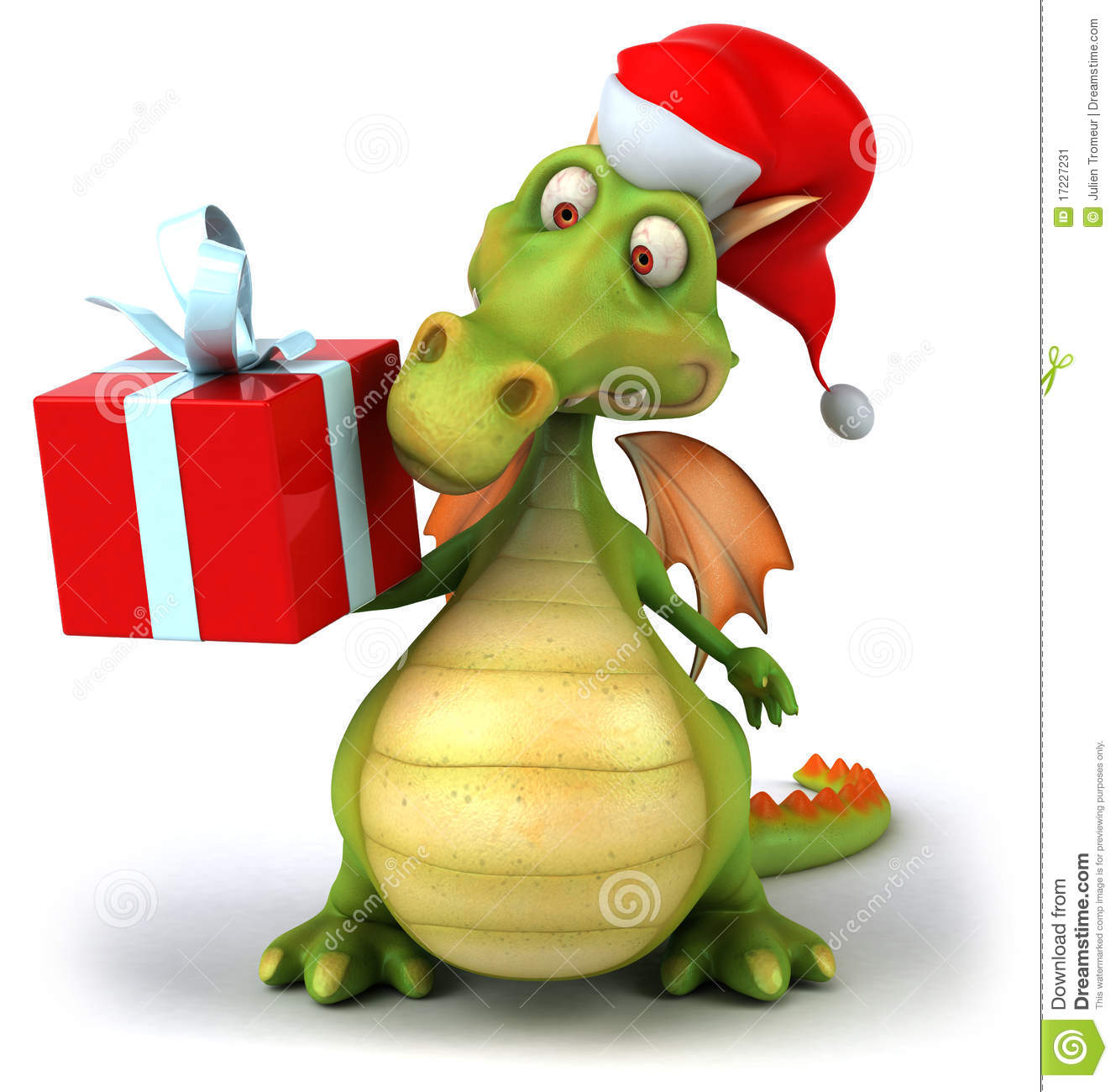 santa dragon stock image   image 17227231