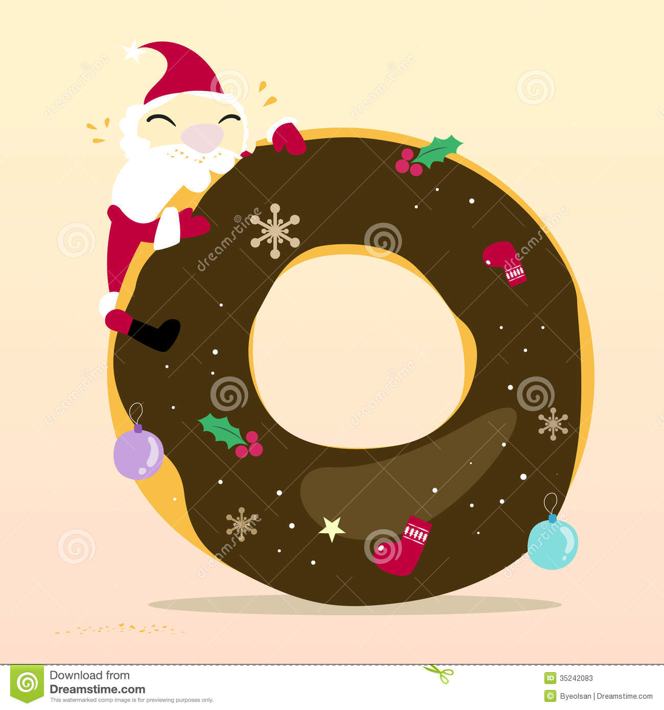 santa is eating donut stock photos image 35242083 jingle bell clip art free jingle bell clipart free