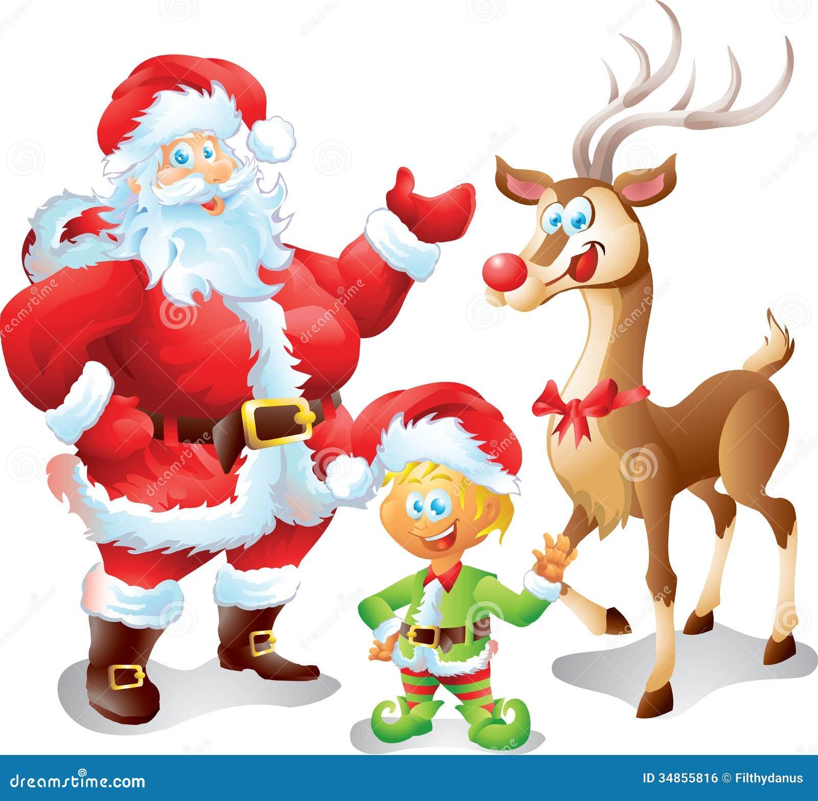 elf and reindeer clipart wwwtopsimagescom