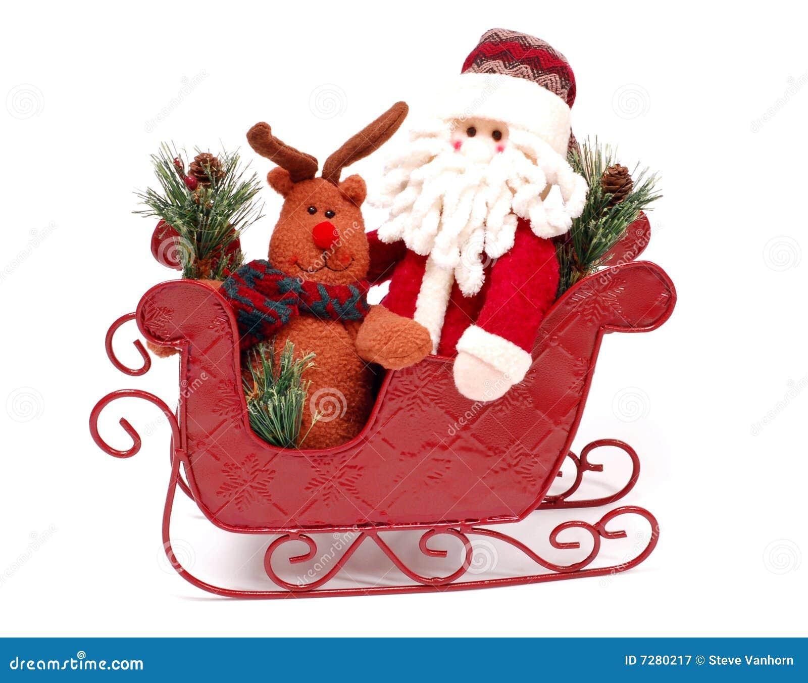 Santa en un trineo