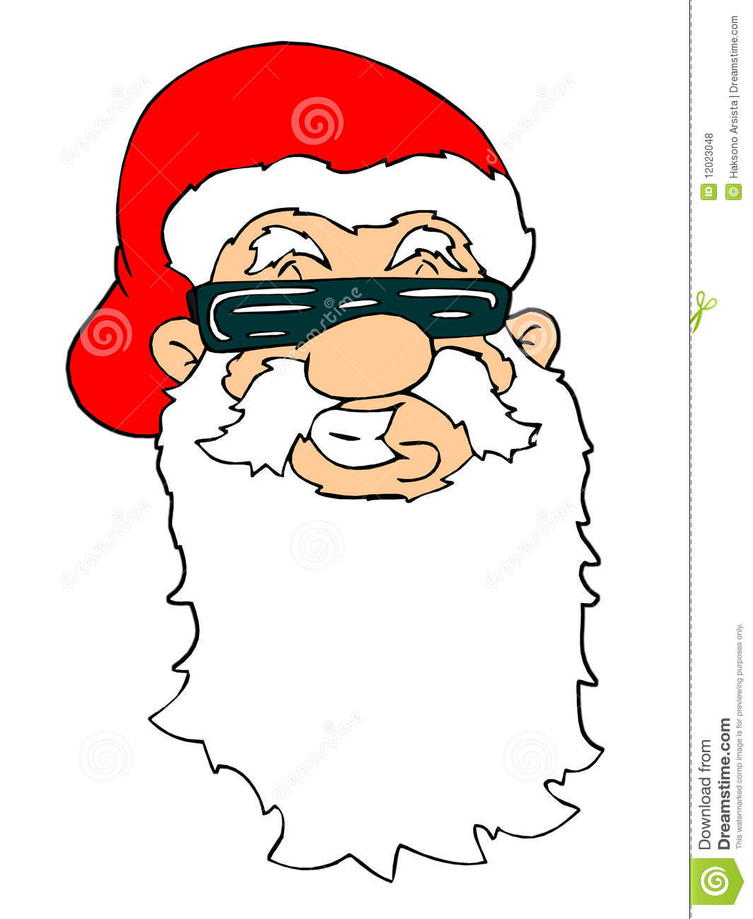 Santa face stock illustration. Illustration of noel, humor ...
