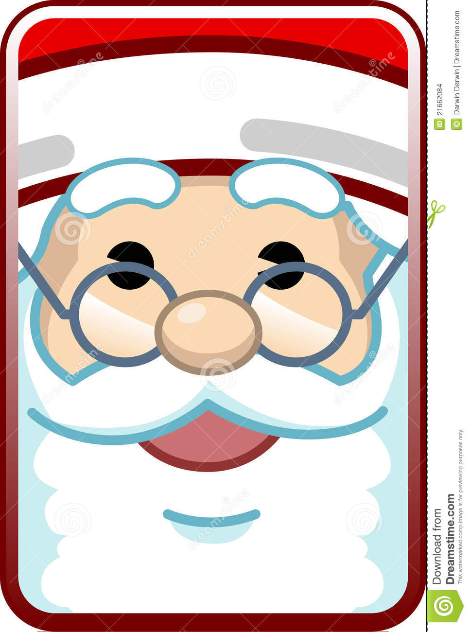 Santa Face stock vector. Illustration of santa, season ...