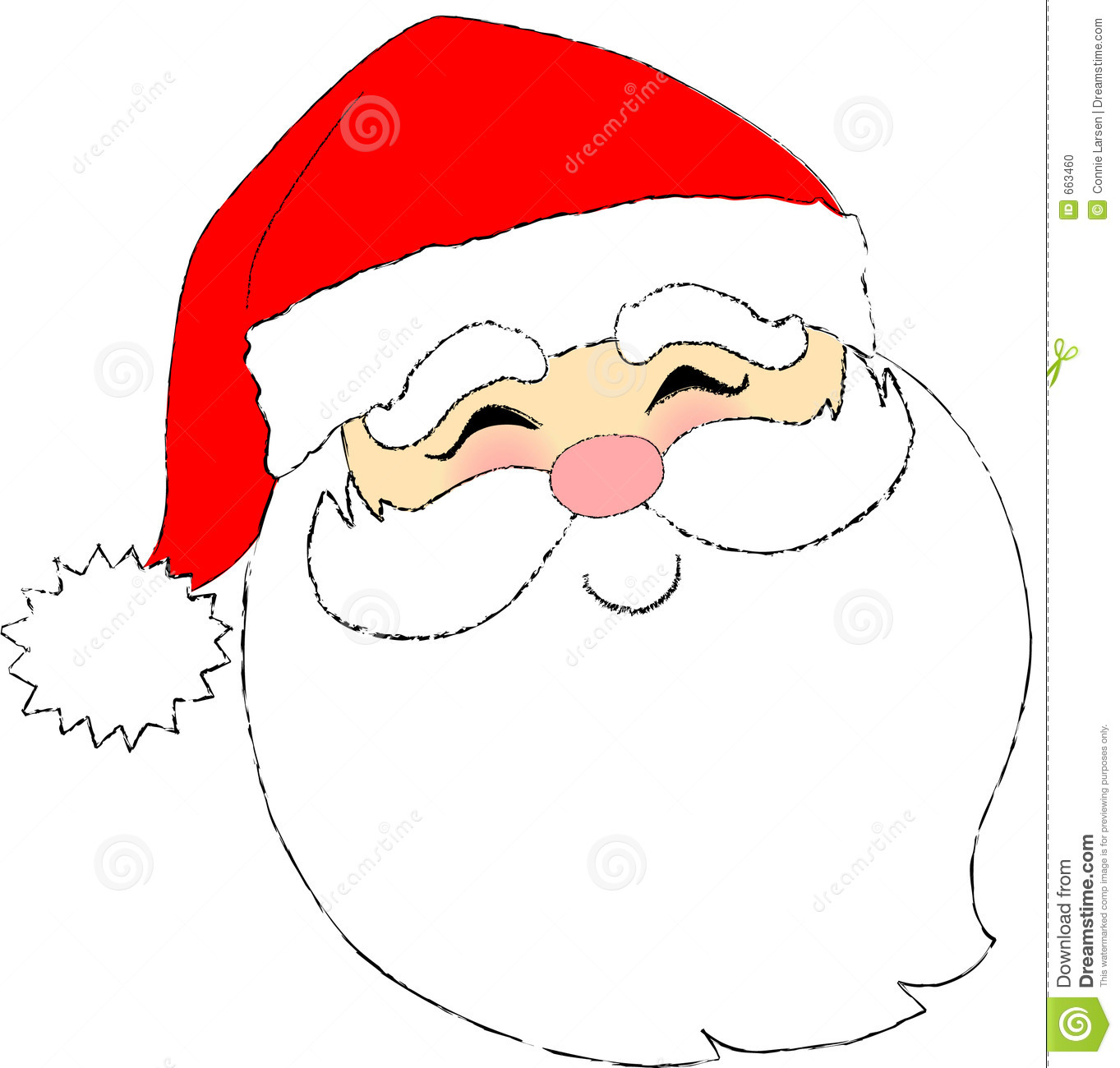 Cartoon-type illustration of a Santa face.: www.dreamstime.com/stock-photo-santa-face-image663460