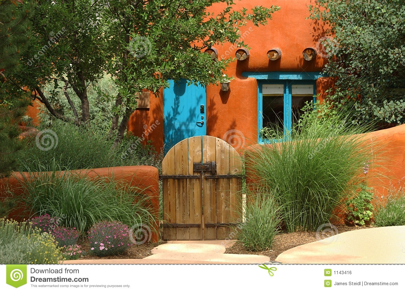 Santa Fe Cottage Royalty Free Stock Image Image 1143416
