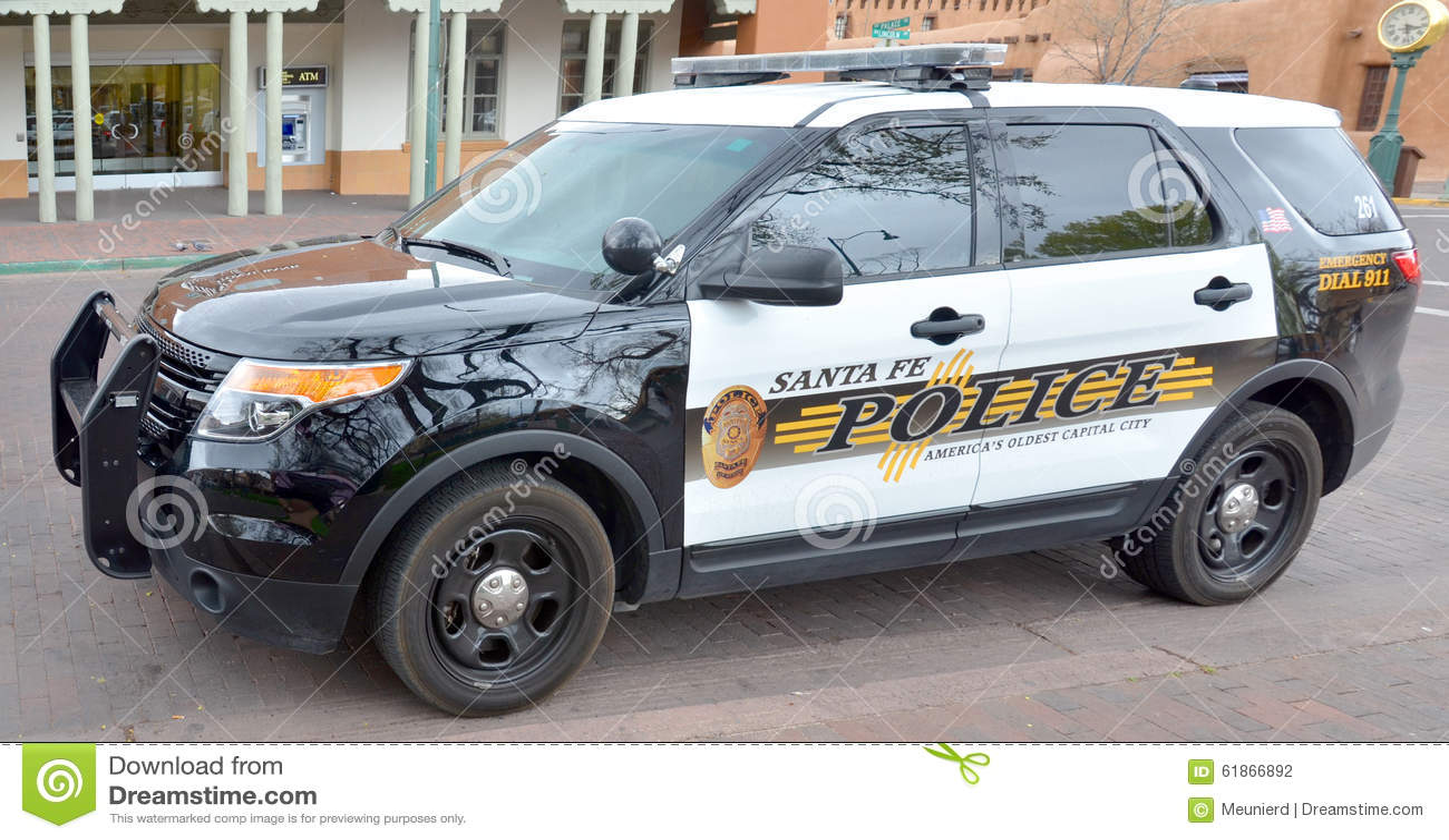 Santa fe police department car editorial photography for Motor vehicle division santa fe