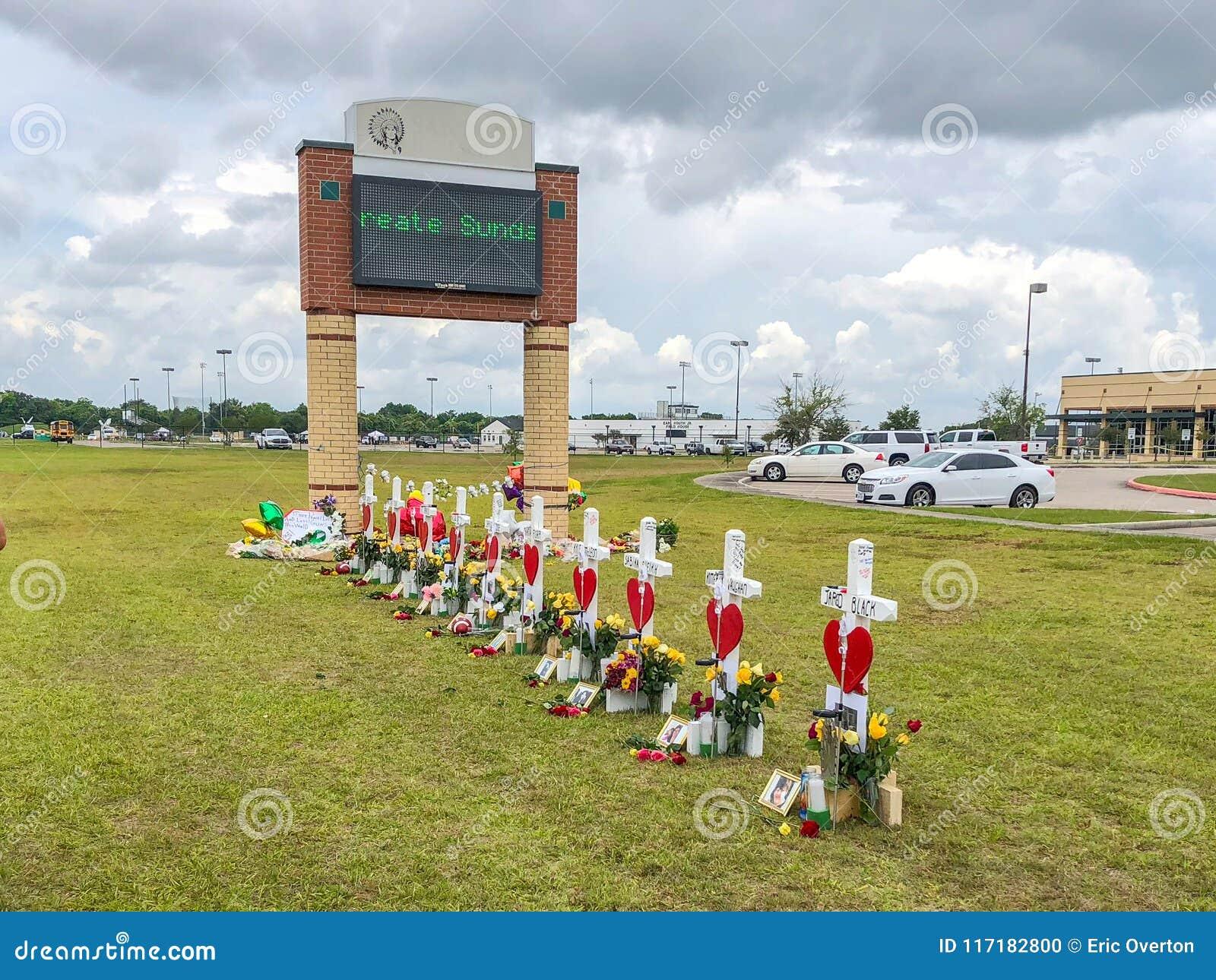 Santa Fe, Texas May 21st 2018: Memorial Crosses Set Up