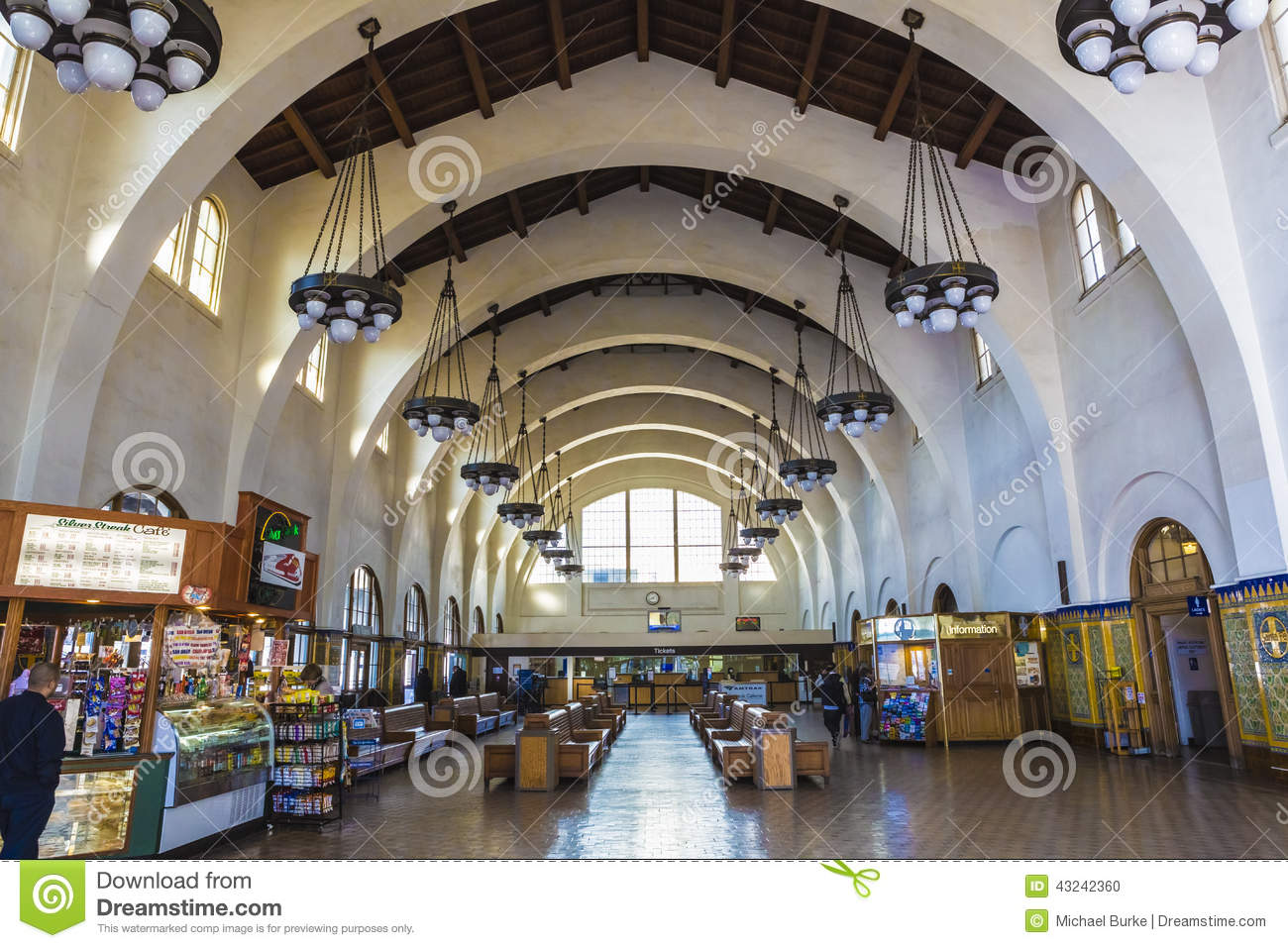 Santa Fe Train Station Interior Editorial Image Image