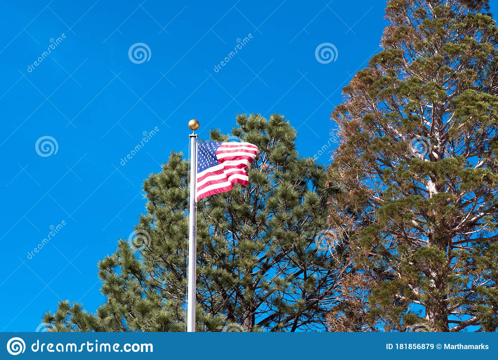 American Flag Flies Over The Capitol Or Roundhouse In Santa Fe New Mexico Usa Stock Image Image Of Chapel April 181856879