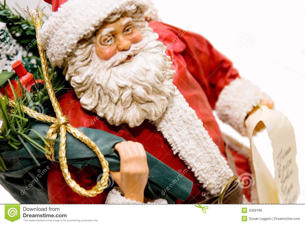 Santa Figurine/Gifts and List