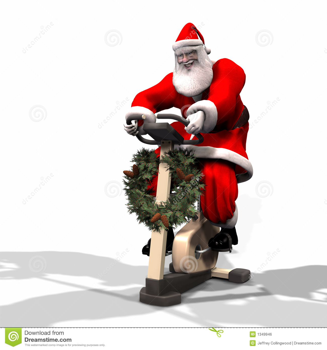 santa fitness 2 stock illustration  image of prepare  kris