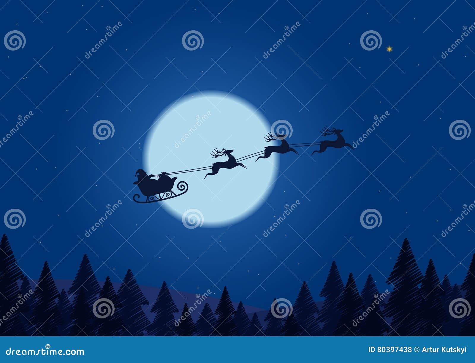 santa sleigh wallpaper free
