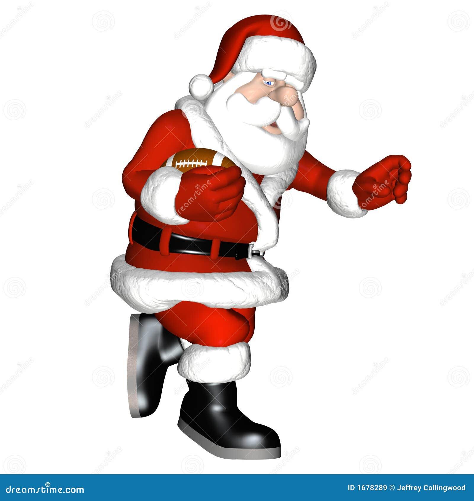 Santa football royalty free stock images image