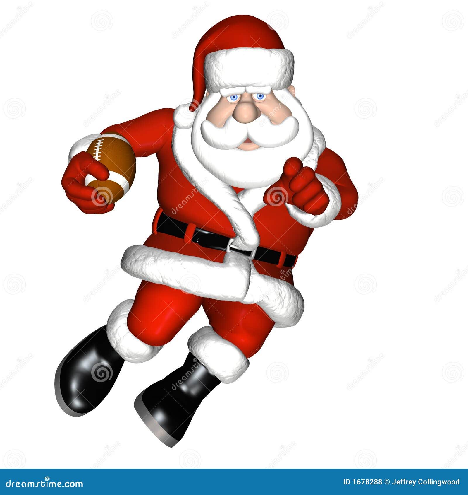Santa football stock illustration image of happy