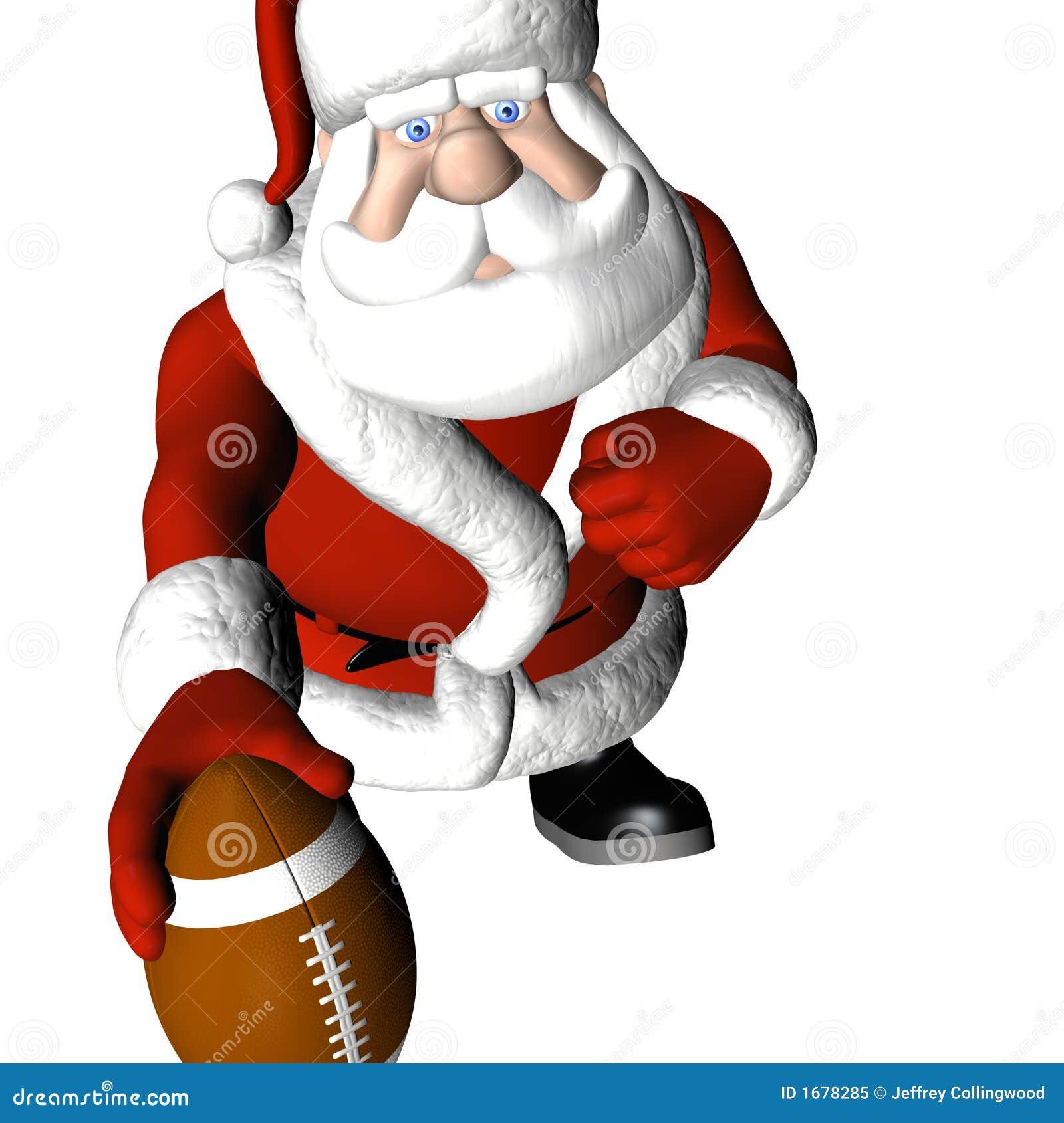 Santa football stock illustration image of competition