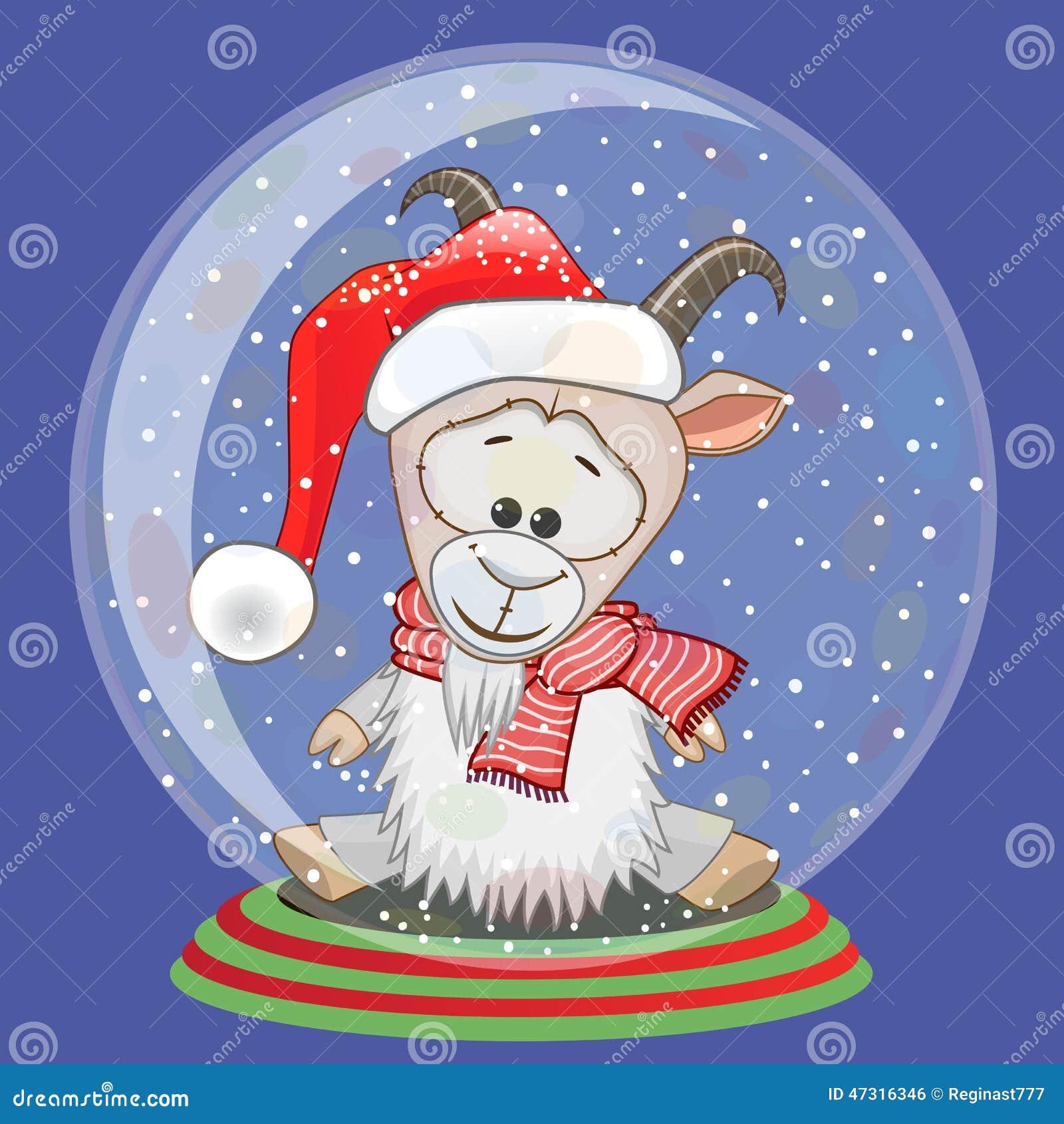 Santa Goat stock vector. Illustration of cheerful 5349bfd218c7