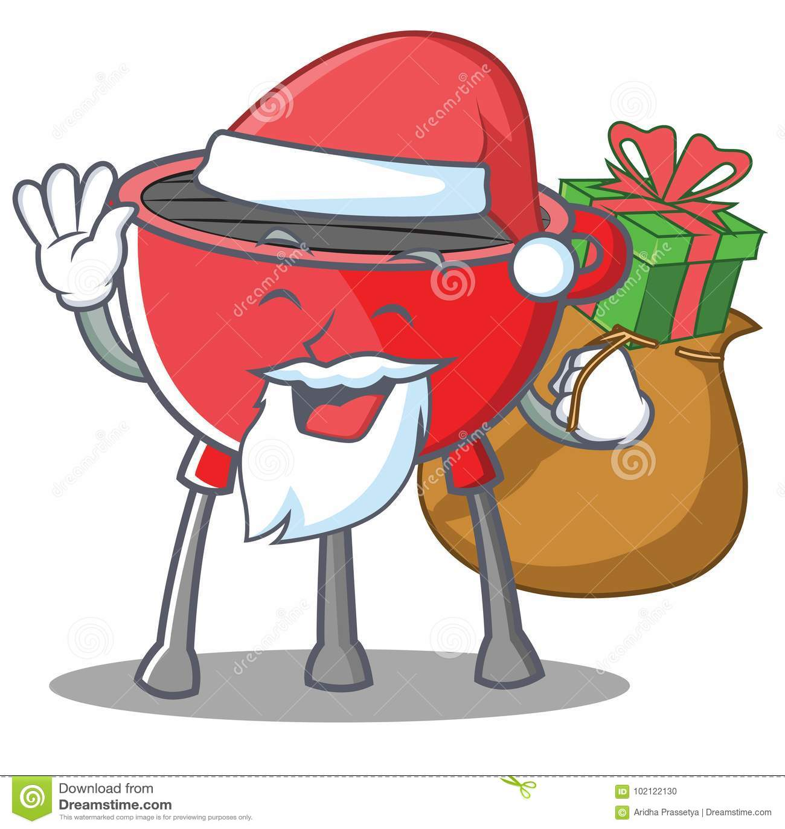 Santa grilla grilla postać z kreskówki