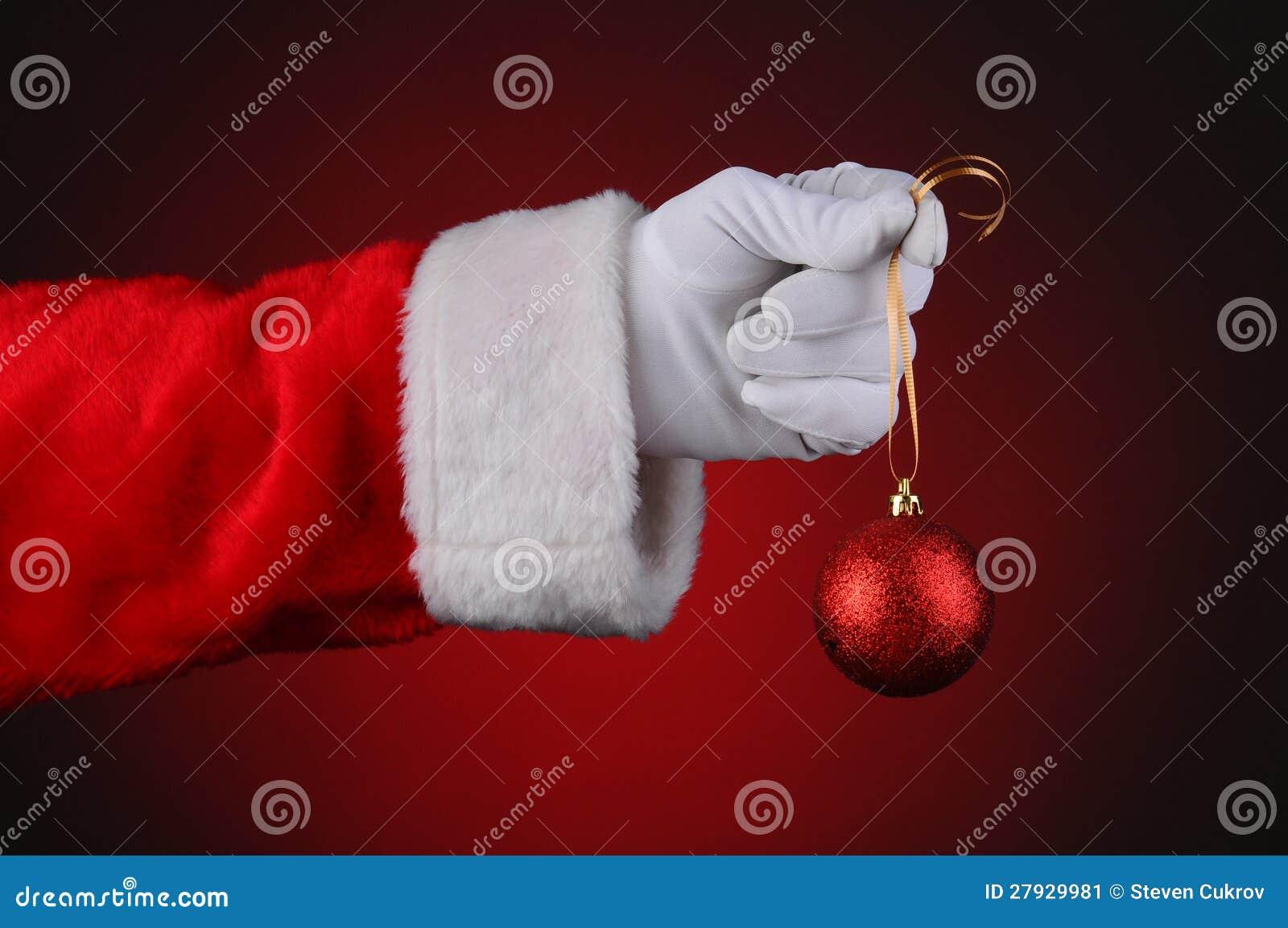 Santa Hand Artist Brush · GL Stock Images