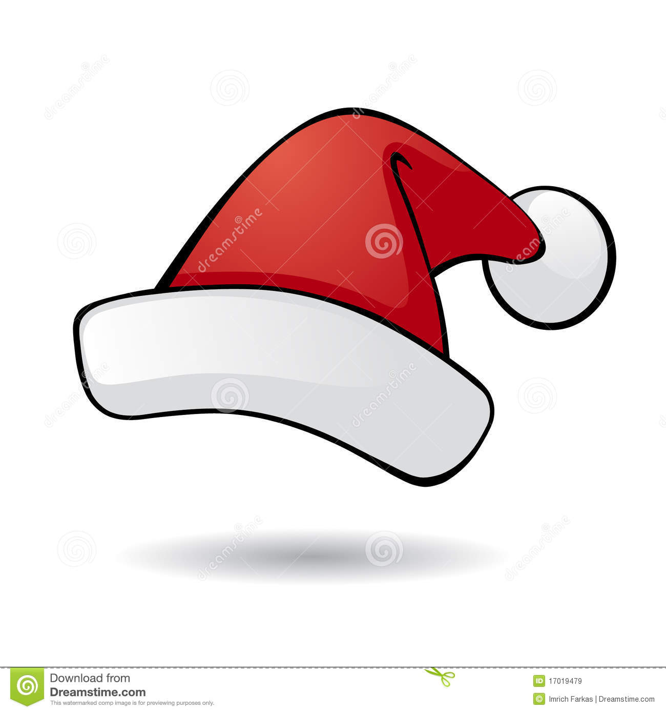 Santa hat stock vector image of december object party