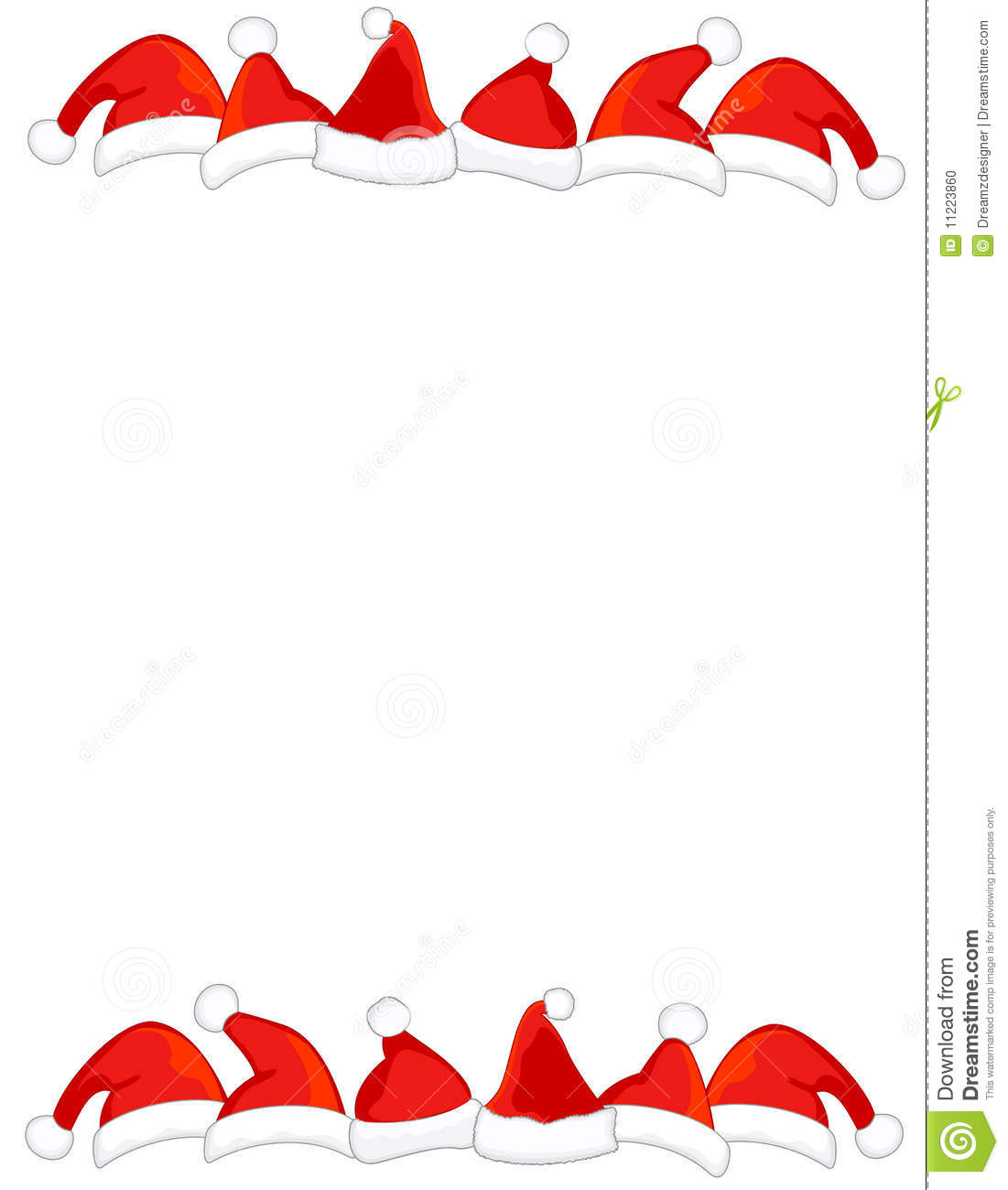 Santa Hat Border / Frame Stock Photo - Image: 11223860
