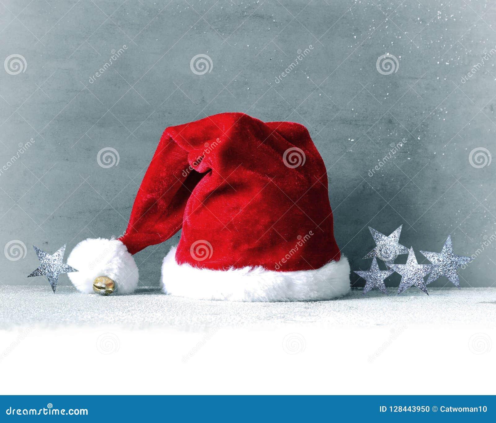 930bebdf124 Santa Hat. Christmas Or New Year Decoration Stock Photo - Image of ...