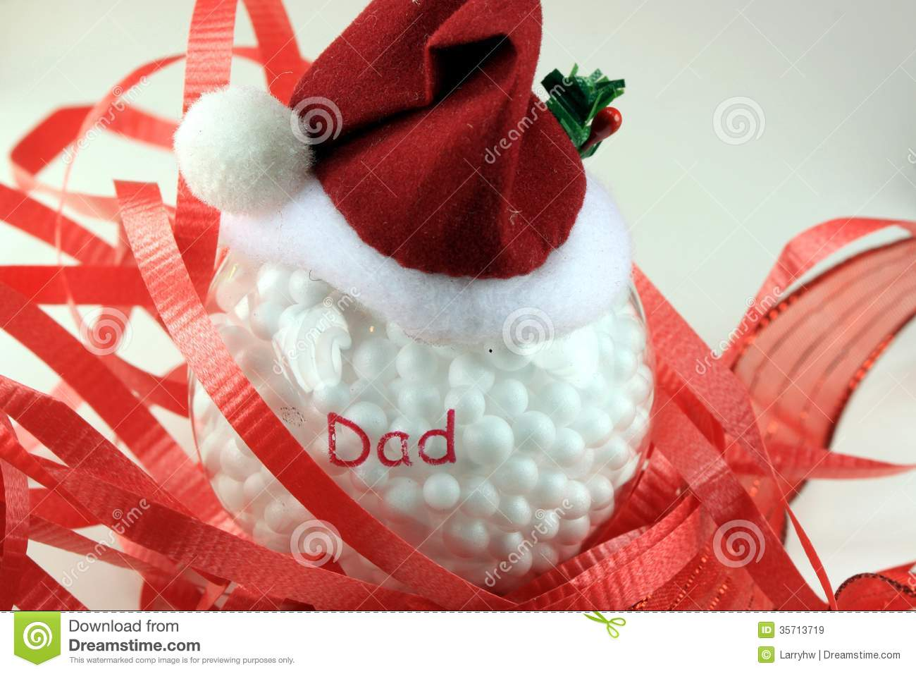 Dad christmas ornament - Santa Hat Christmas Ornament For Dad