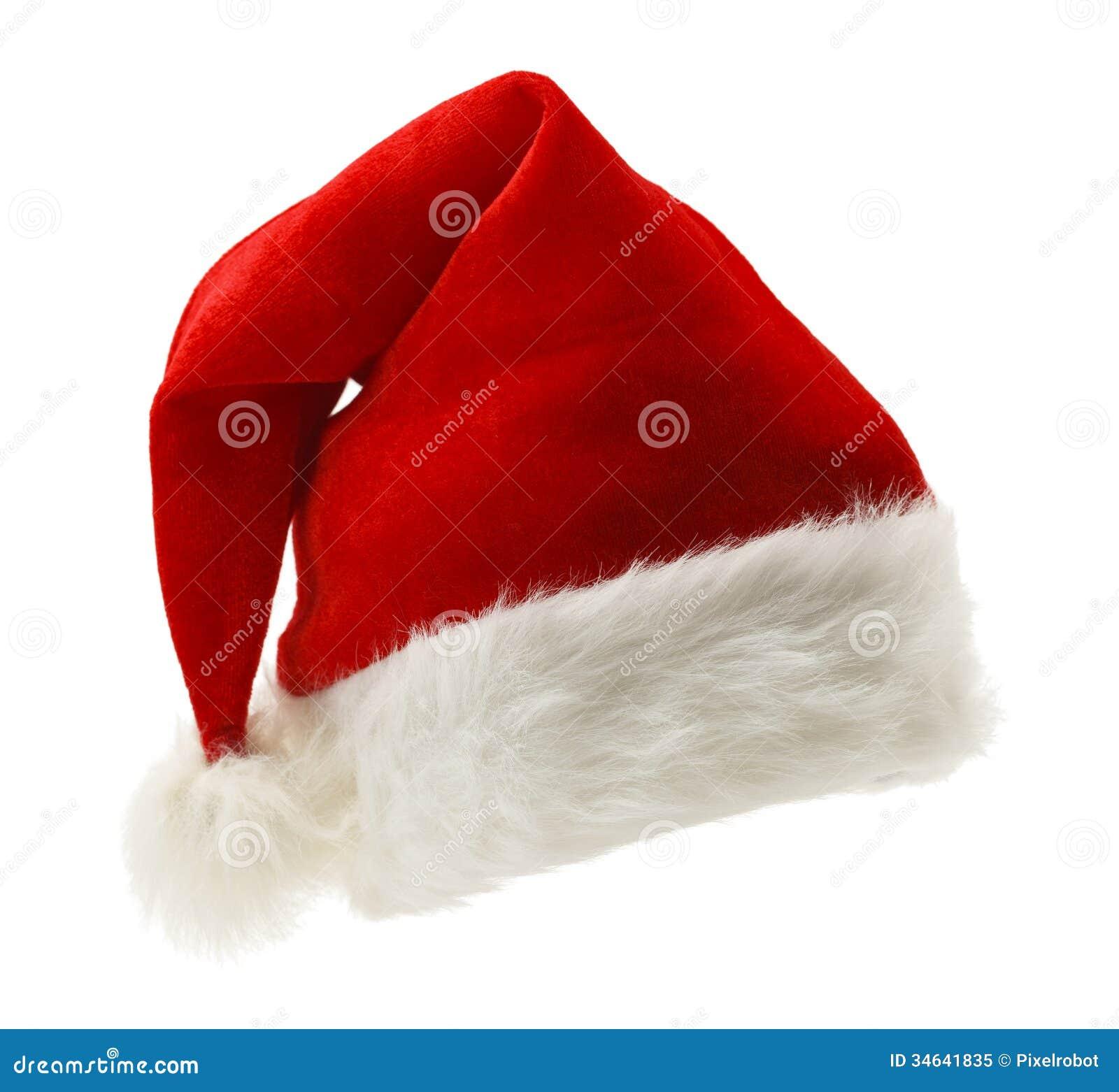 Santa hat stock image of copy horizontal fluffy