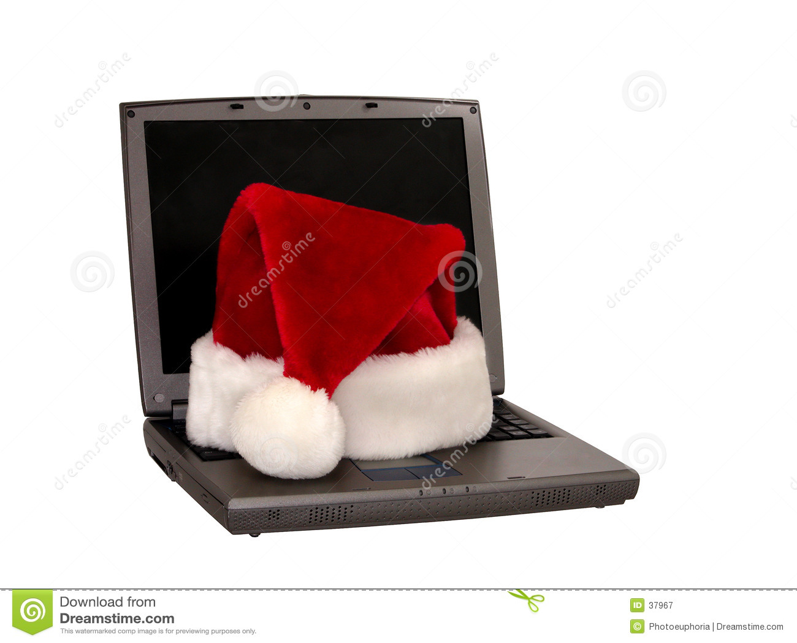 Santa Hat Sitting on a Laptop (1 of 3)