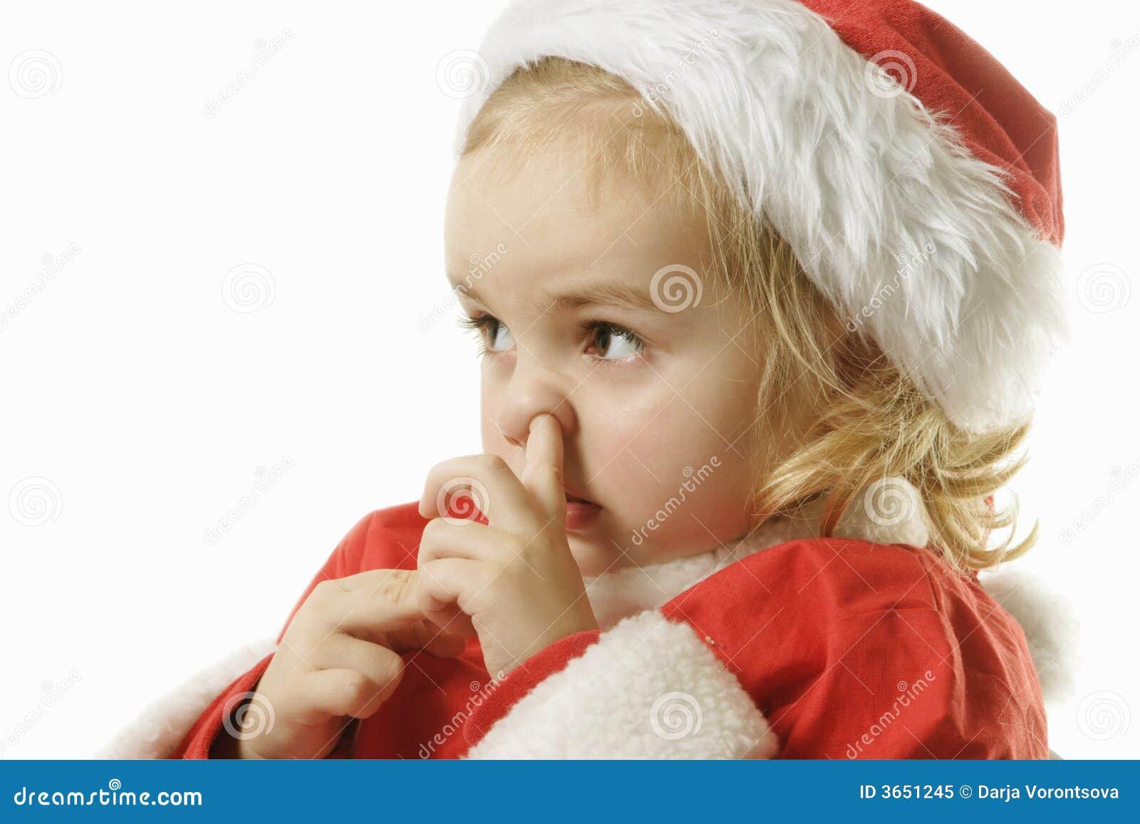 Santa Helper Picking His Nose Royalty Free Stock Photo ...
