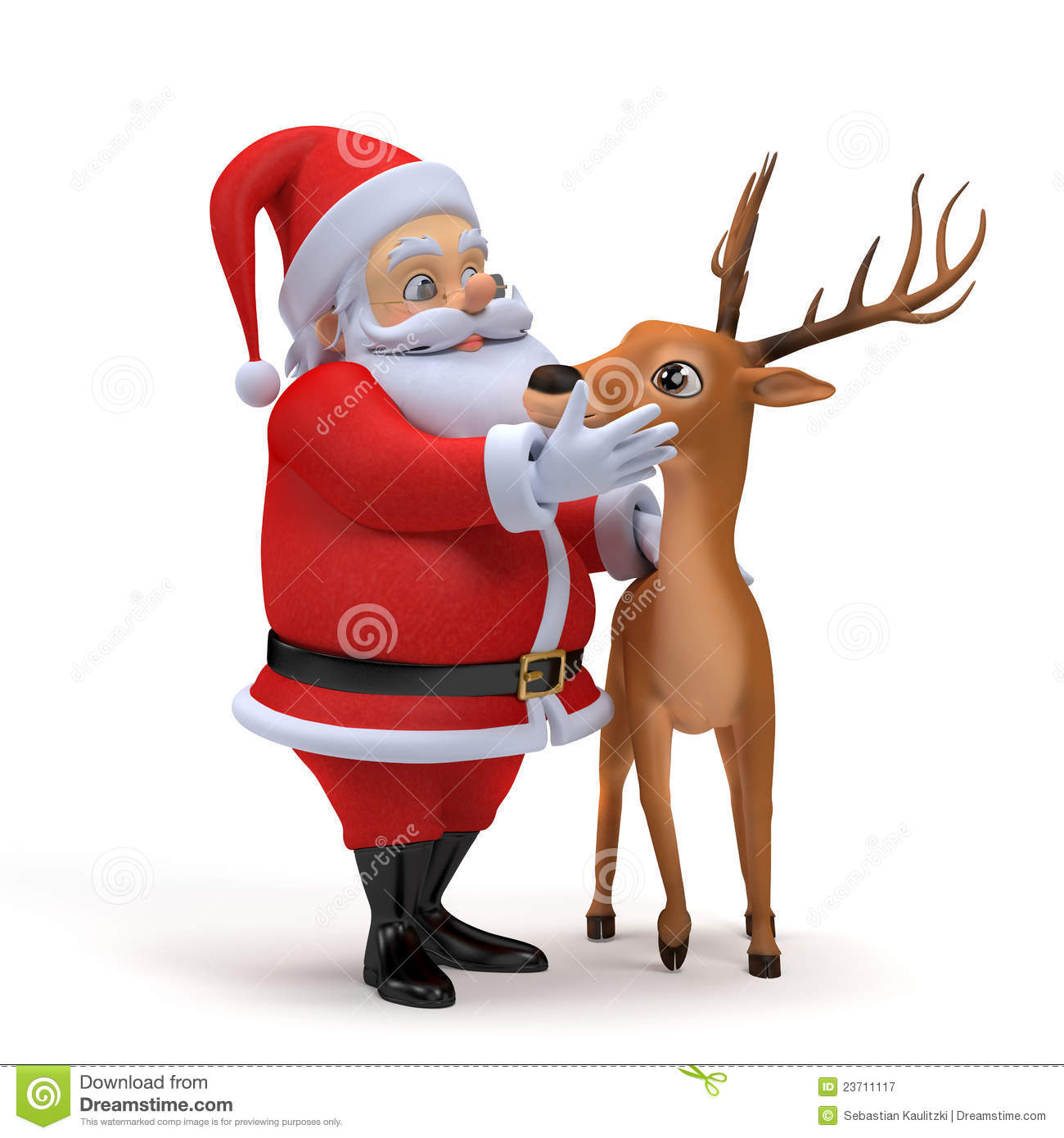 More similar stock images of ` Santa and his reindeer `