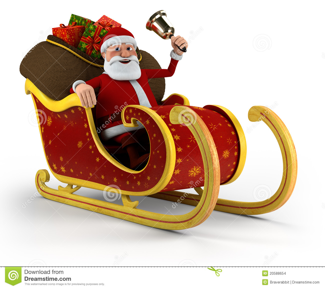 Santa In His Sleigh Stock Images - Image: 20588654