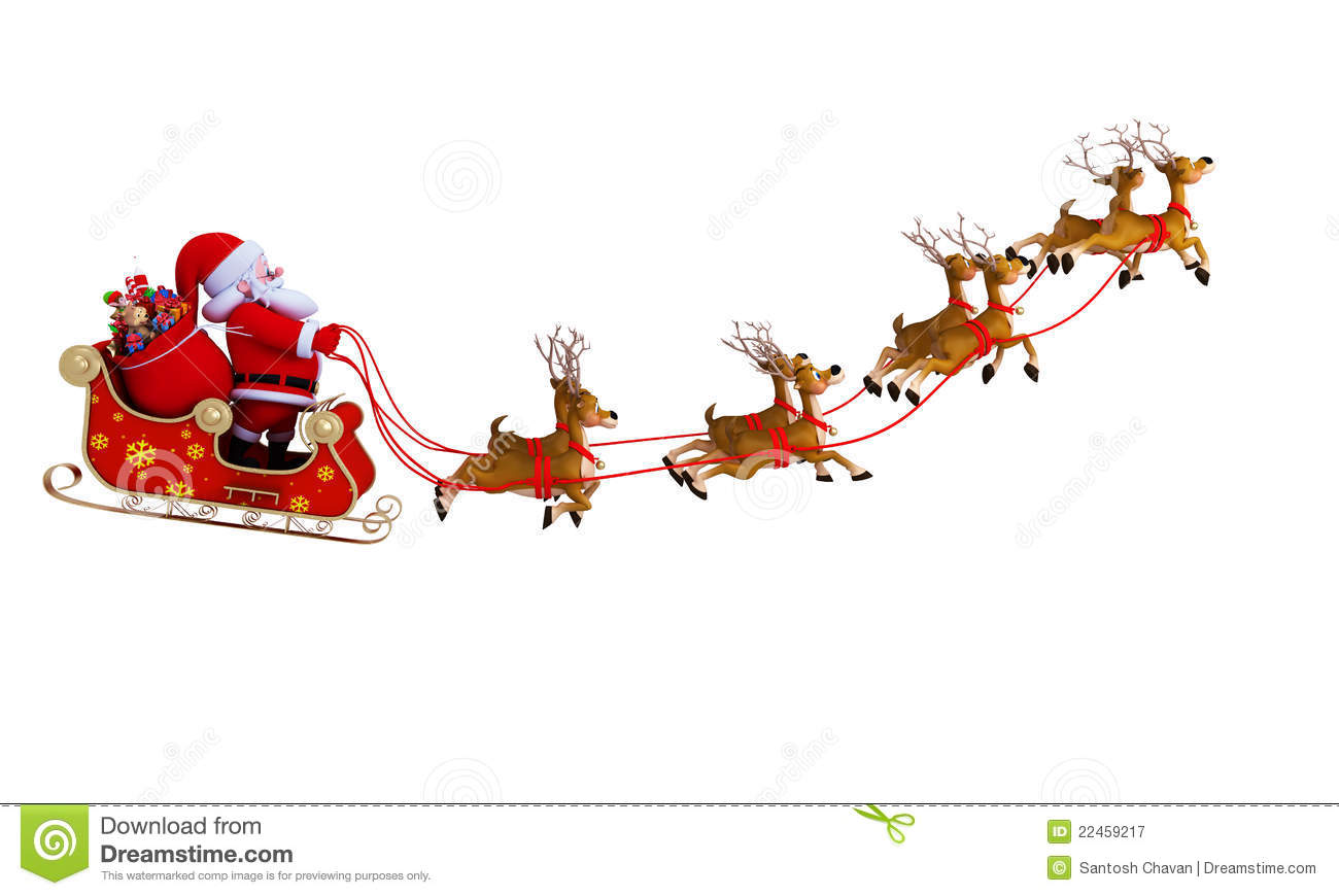 royalty free stock photography santa with his sleigh santa and sleigh clip art free santa and sleigh clipart free