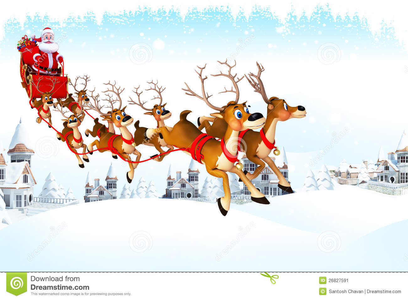 Santa His Sleigh Template | New Calendar Template Site