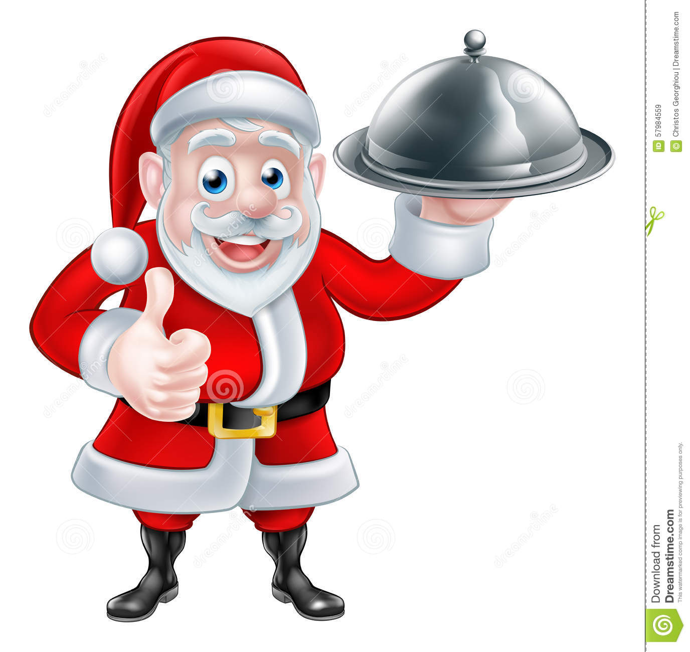 santa holding christmas dinner stock vector image 57984559 christmas elves clipart free cute christmas elves clipart