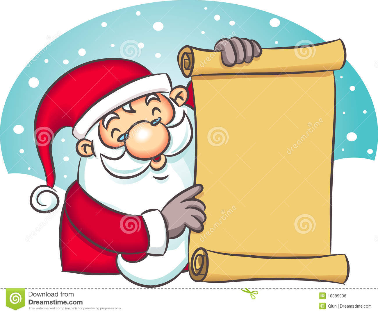 Santa Holding List Stock Vector Image Of Design Holiday