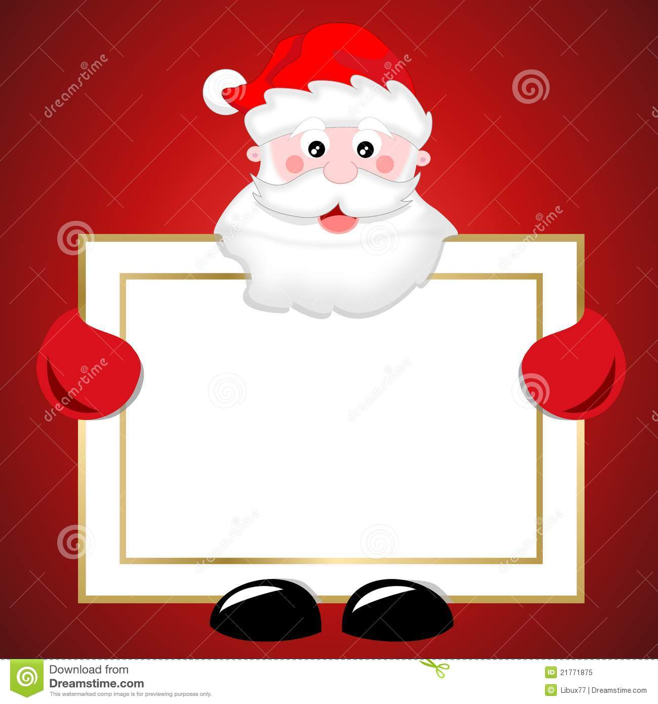 Santa Claus Holding Blank Banner Christmas Sign Stock Illustration ...