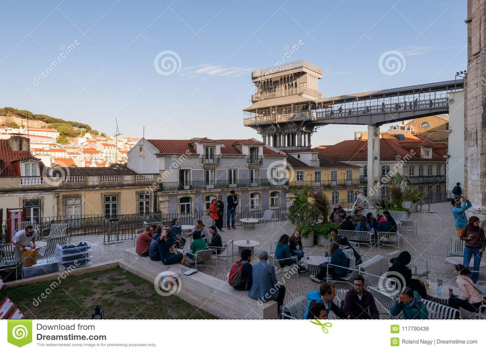 Santa Justa Lift, Lisbon, Portugal Editorial Stock Image ... on alto do pina lisbon, portugal lisbon, santos-o-velho lisbon, prazeres lisbon, campo grande lisbon, castelo lisbon, alvalade lisbon,