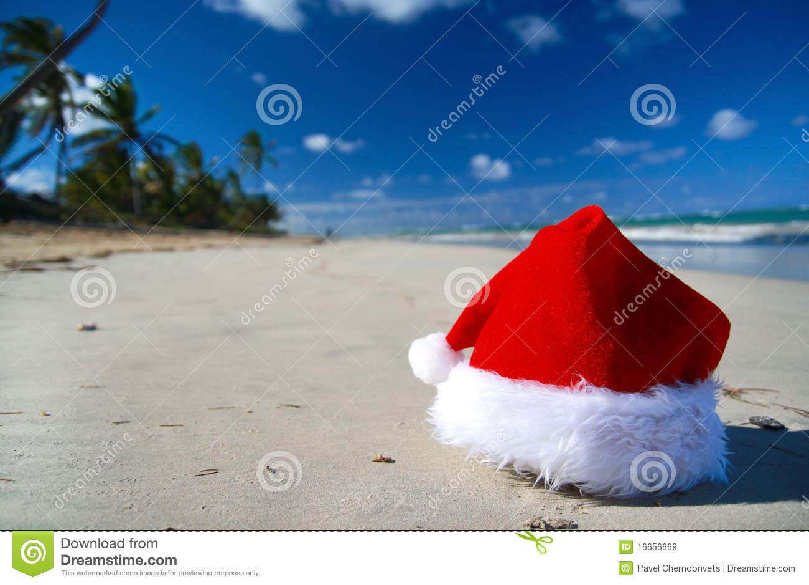 Santa karaibski kapeluszowy morze