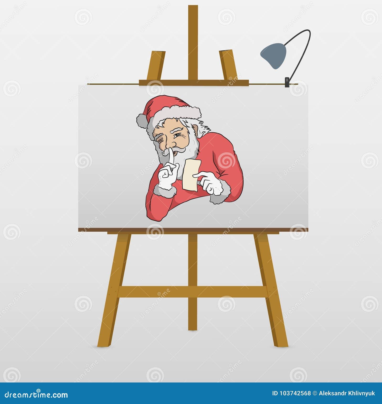 Santa is keeping secret stock illustration illustration of claus santa is keeping secret m4hsunfo