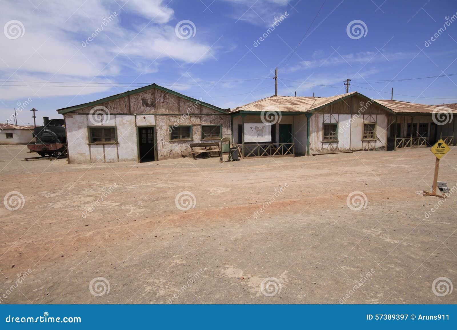 Santa Laura Humberstone-de installatie van de salpeterverwerking, Iquique, Chi