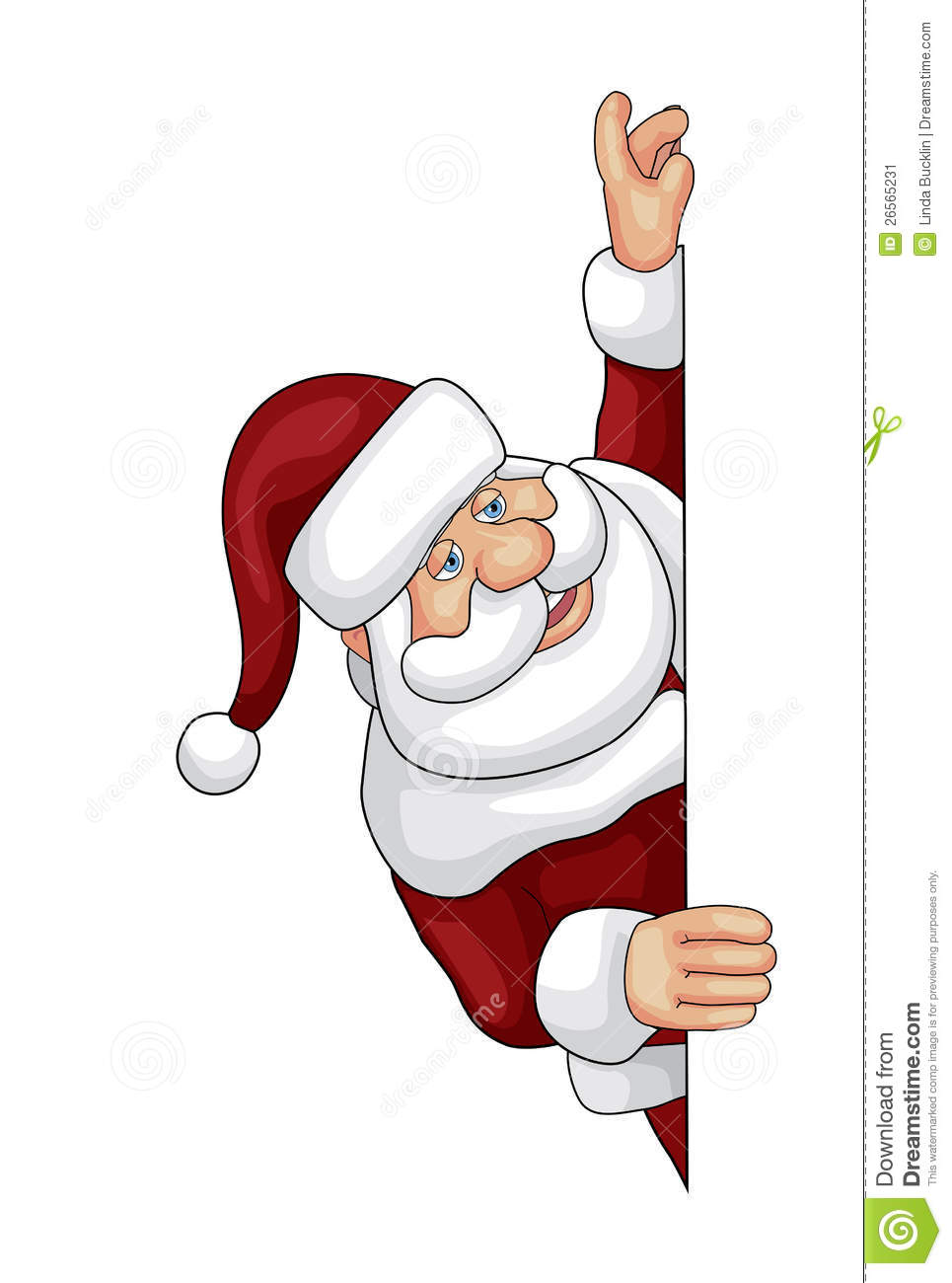 Santa Looking Over An Edge Stock Vector Illustration Of