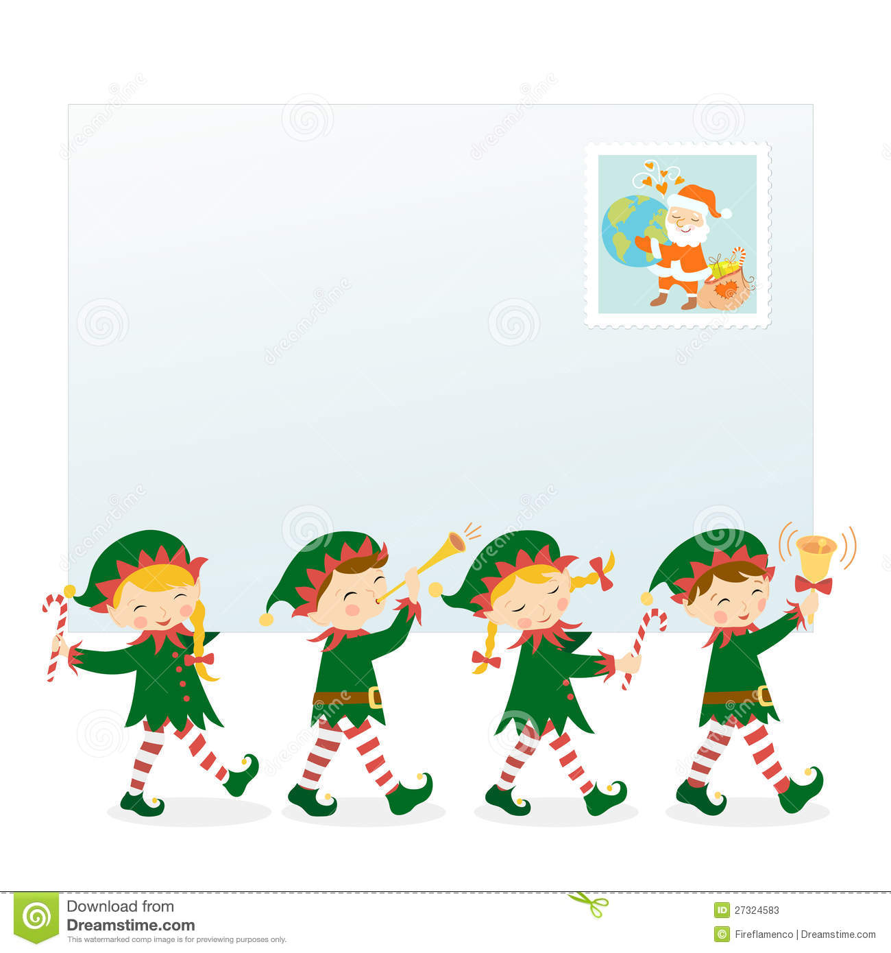 from santa with love stock vector illustration of stamp 27324583