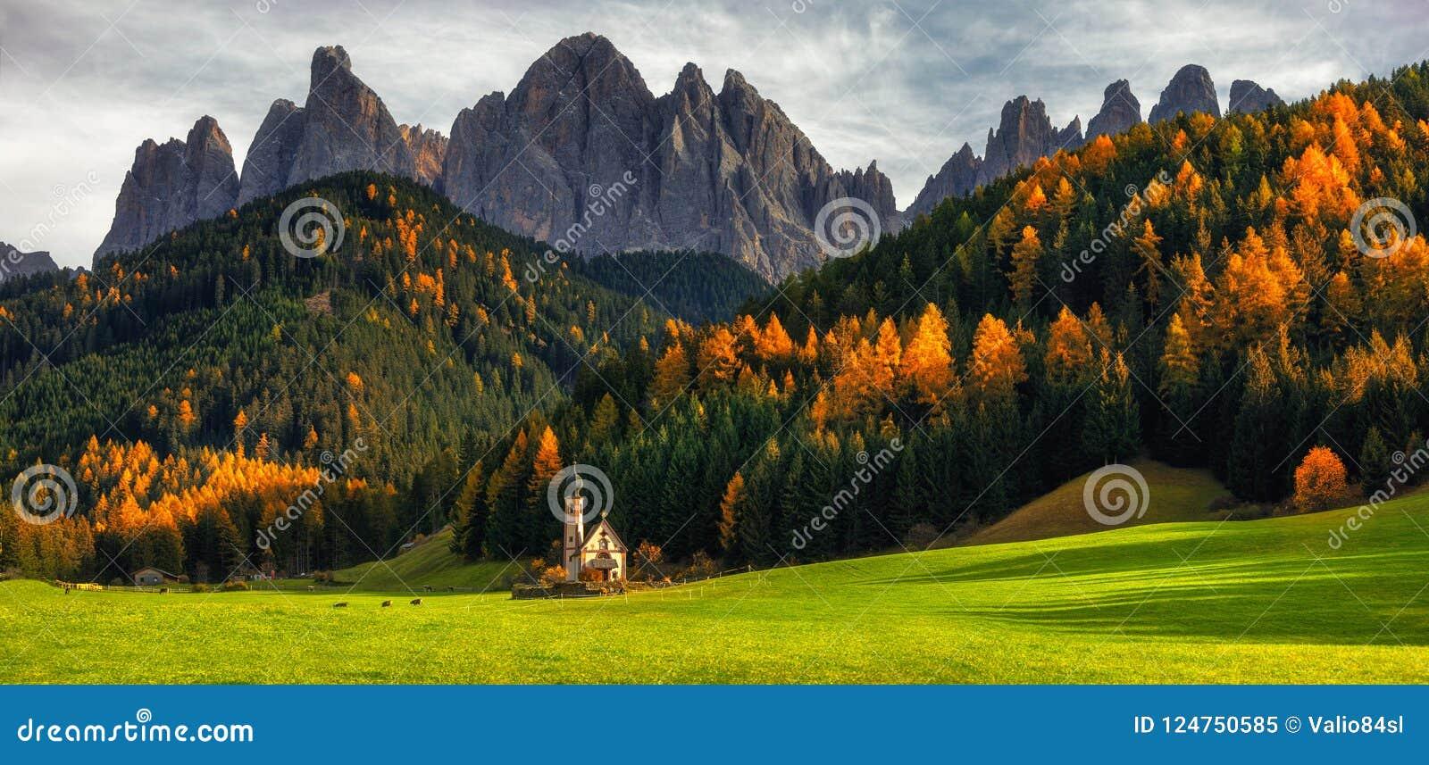 Santa Maddalena St Magdalena-Dorf mit magischen Dolomit MO