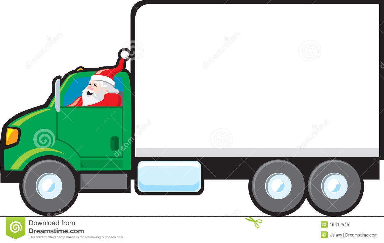 santa making a delivery stock vector illustration of sale 16412545 rh dreamstime com red delivery truck clipart red delivery truck clipart