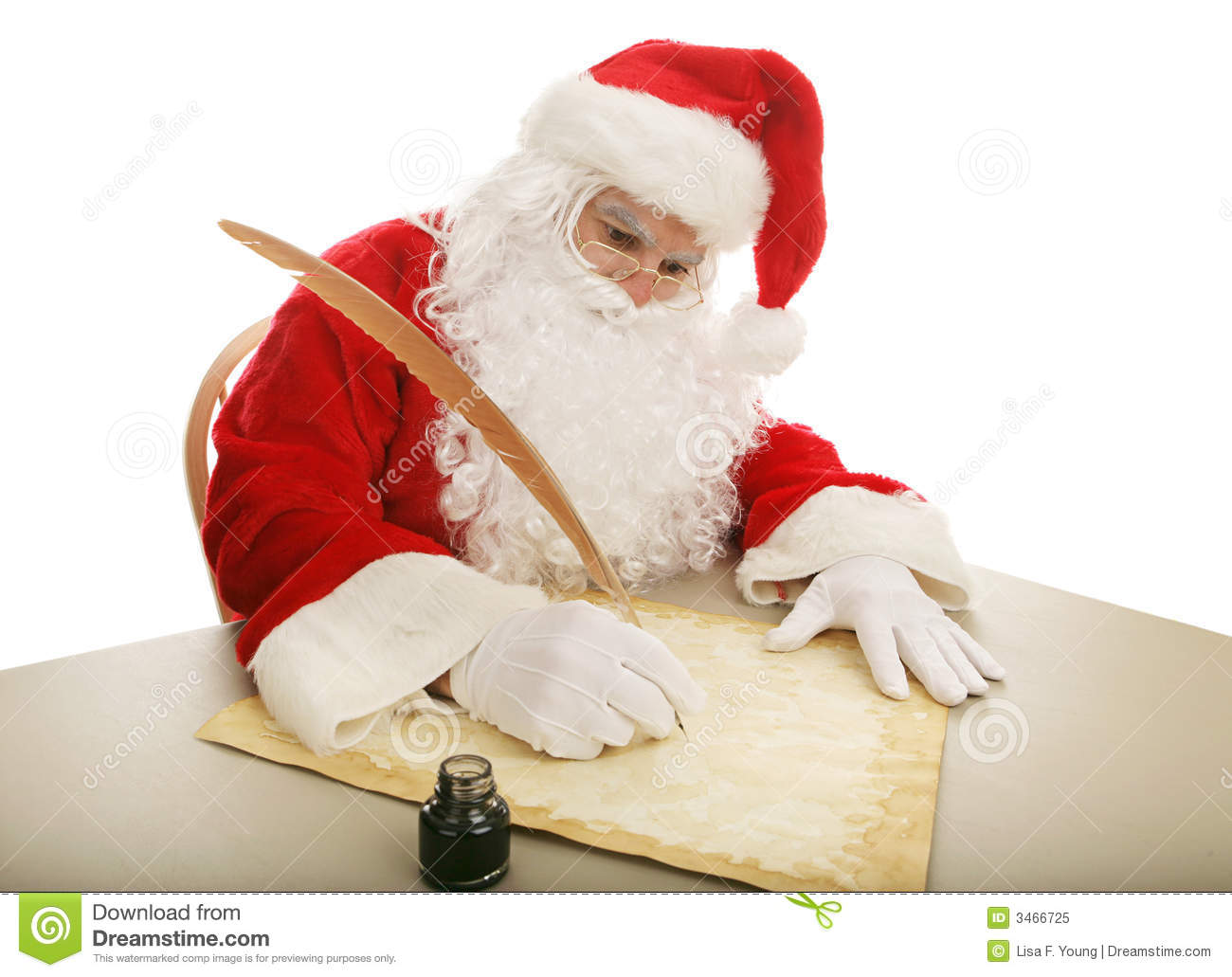 santa making his list stock image image of fashioned 3466725