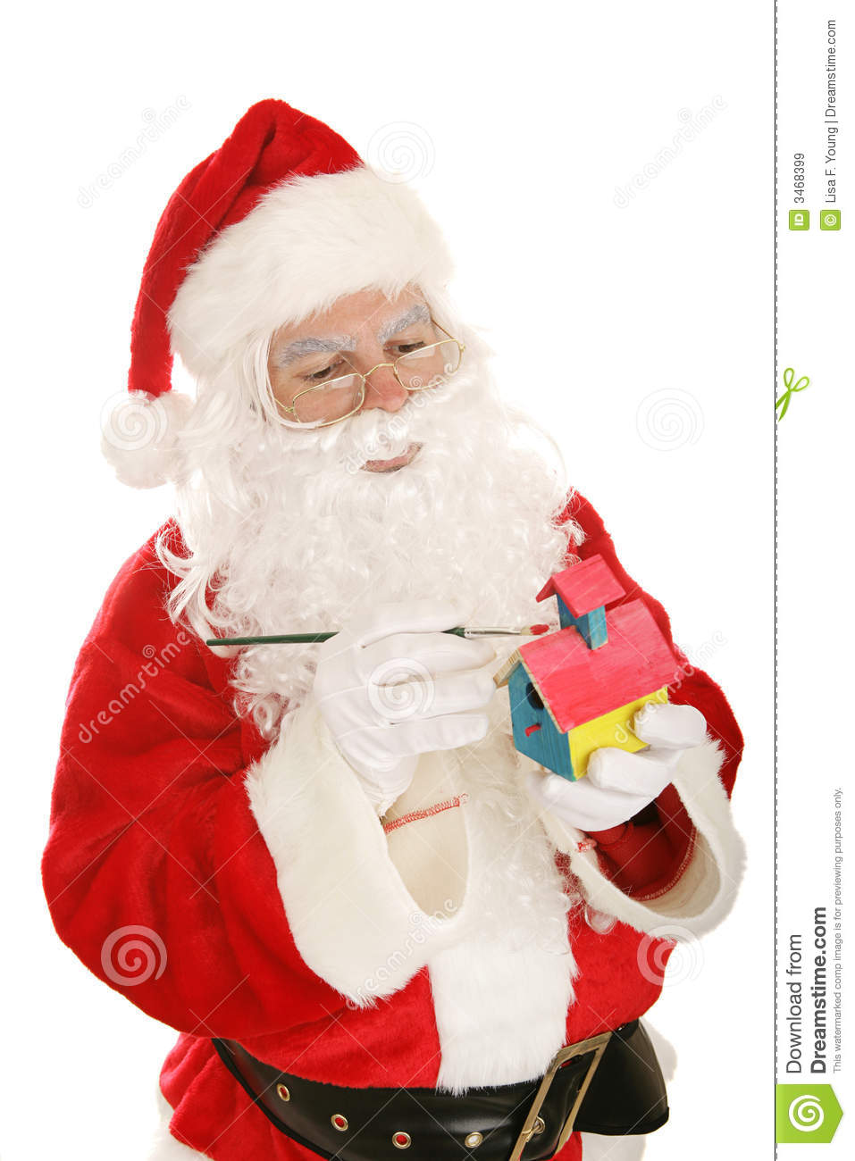 Toys From Santa : Santa making toys stock image of motion isolated