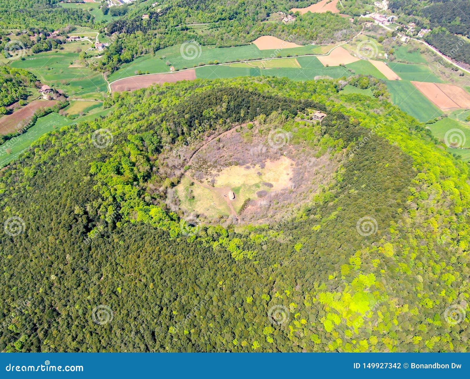 The Santa Margarida Volcano is an extinct volcano in the comarca of Garrotxa, Catalonia, Spain